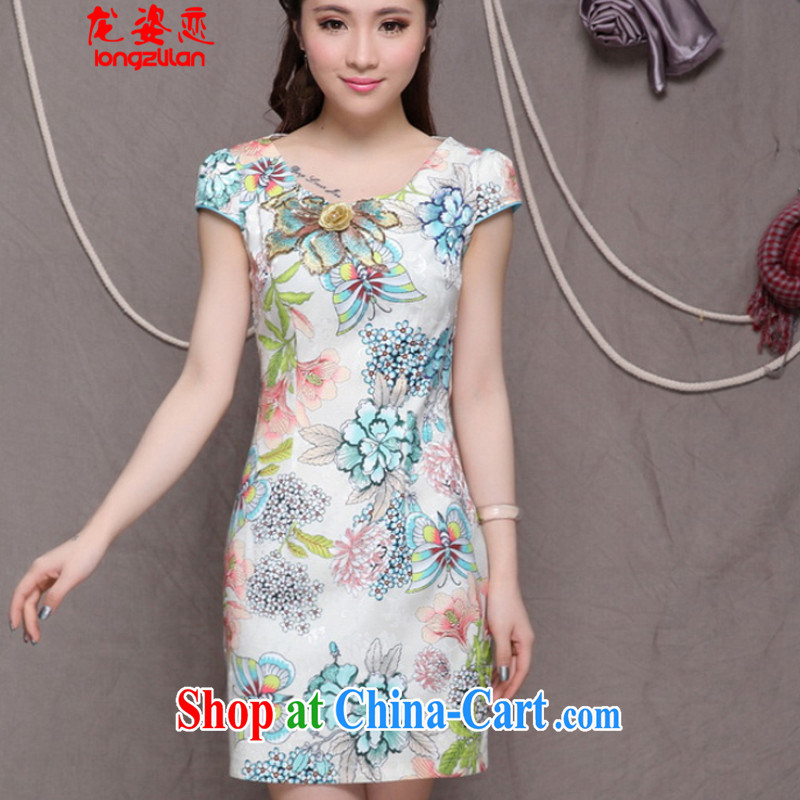 Embroidered cheongsam high-end Ethnic Wind stylish Chinese qipao antique dresses beauty FA 033, 9907 light green L