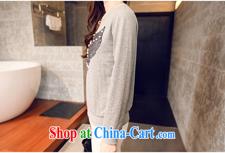 Korean female spring Eagle stamp round-collar T pension female S 767 gray black are code pictures, price, brand platters! Elections are good character, the national distribution, so why buy now enjoy more preferential! Health