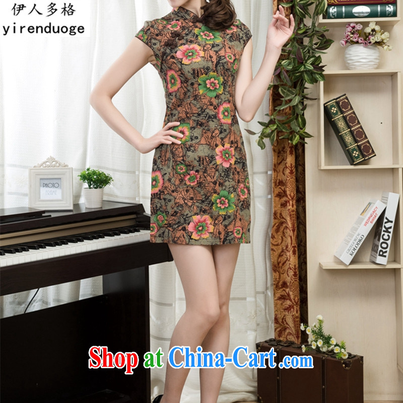 The people more than the dresses 2015 new spring and summer with retro style improved cultivating cheongsam dress dress daily short dresses female elegance female, 07 S