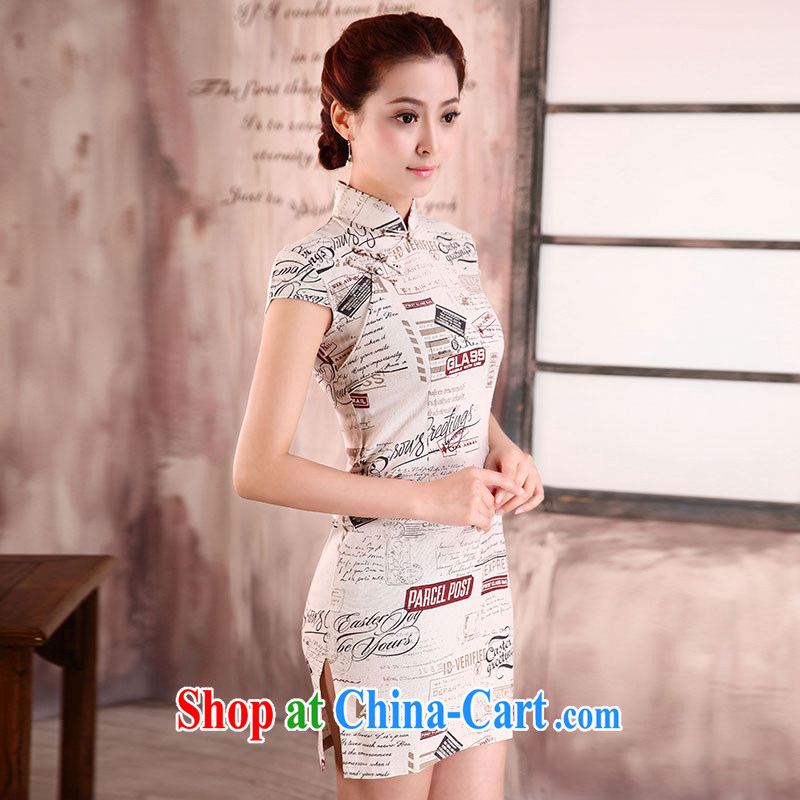 Jubilee 1000 bride spring 2015 new retro improved butterfly cheongsam stylish modern package and summer beauty routine short dresses X 561 movie life XXL