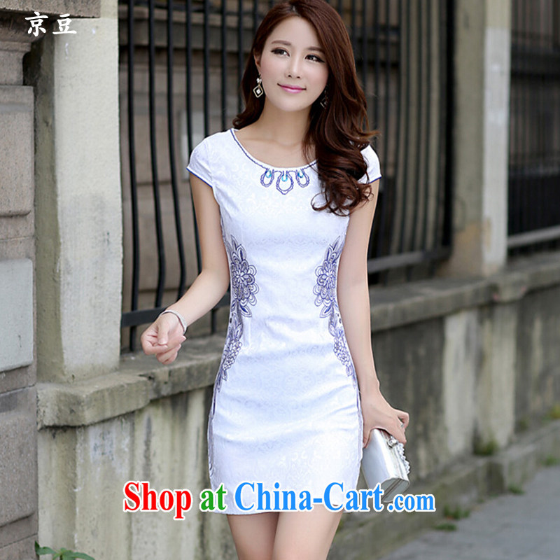 The Beijing Summer 2015 new stylish and refined beauty antique Chinese qipao Ms. dresses HM - JAYT 53 blue XXL