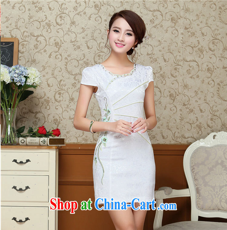 cheongsam dress summer 2015 new improved Stylish retro graphics thin beauty summer dresses short red XXL pictures, price, brand platters! Elections are good character, the national distribution, so why buy now enjoy more preferential! Health