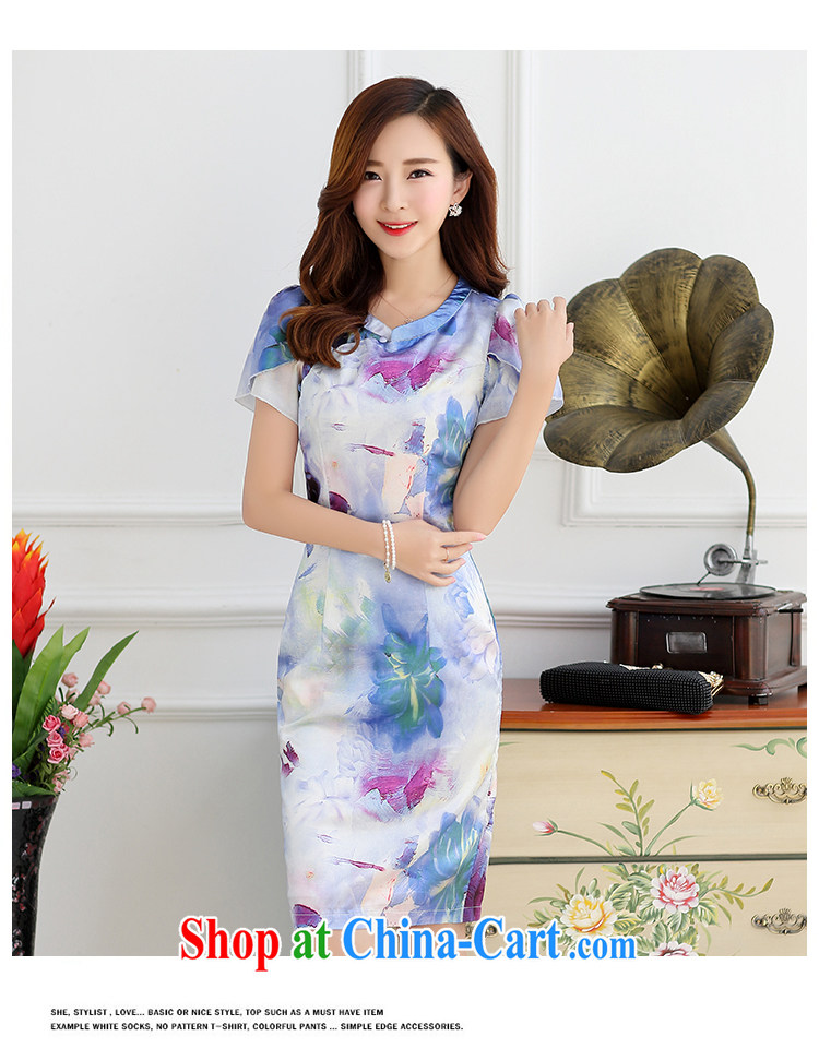 Han Ye-jin summer 2015 new improved style dresses summer fashion dress retro beauty short dress Chinese stamp white yellow L pictures, price, brand platters! Elections are good character, the national distribution, so why buy now enjoy more preferential! Health