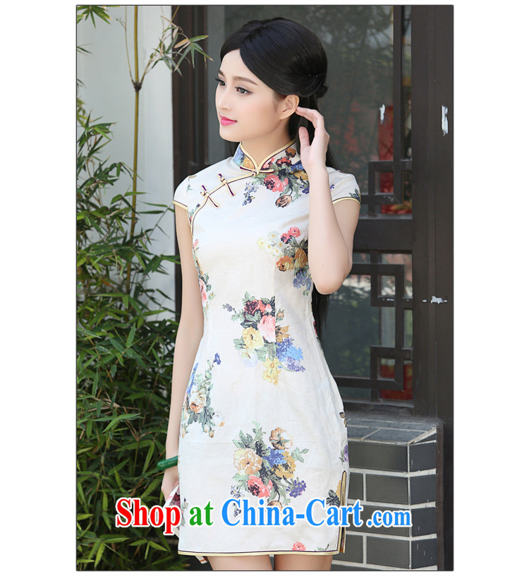 China classic retro improved short summer daily Chinese Chinese cheongsam dress cultivating the waist literary Women fancy XXL pictures, price, brand platters! Elections are good character, the national distribution, so why buy now enjoy more preferential! Health