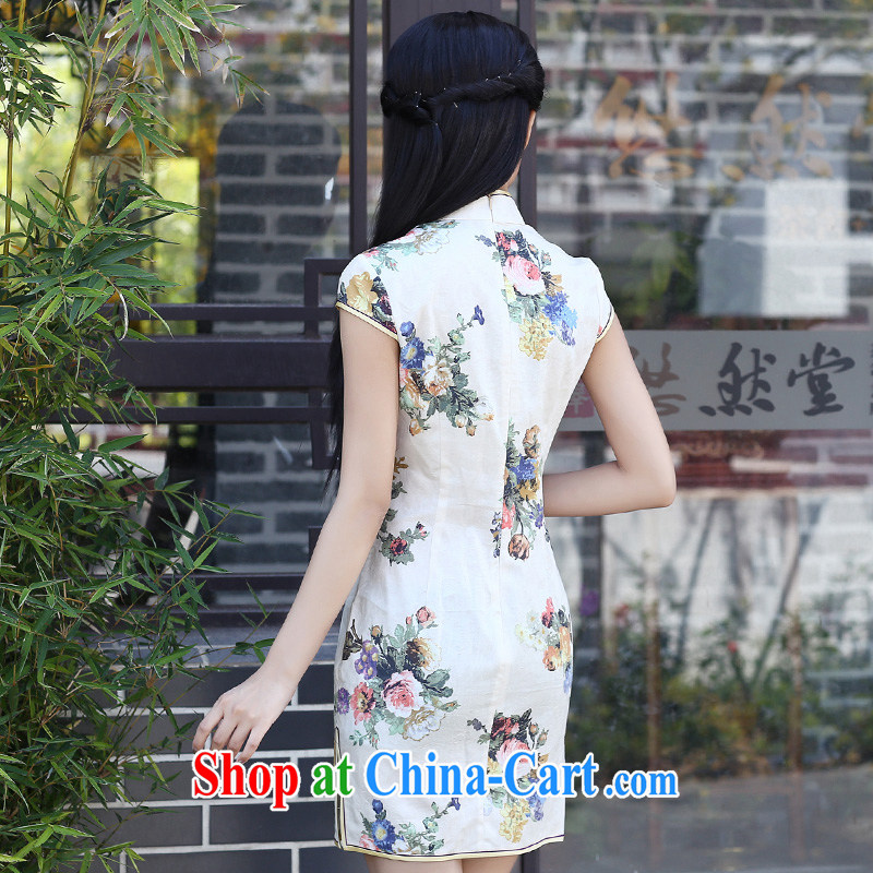 China classic retro improved short summer daily Chinese Chinese qipao dresses beauty-waist arts female fancy XXL, China Classic (HUAZUJINGDIAN), online shopping