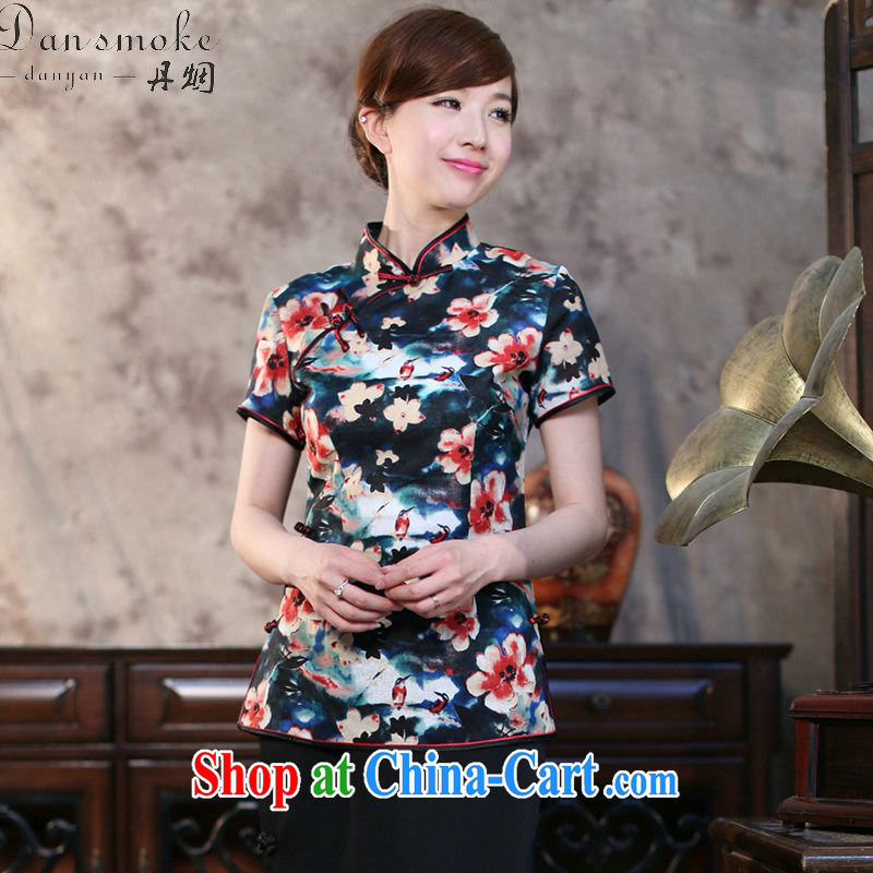 Dan smoke-free summer new, Chinese Chinese improved, for cotton the Commission of Korea, short-sleeved ladies T-shirt Chinese figure 3XL