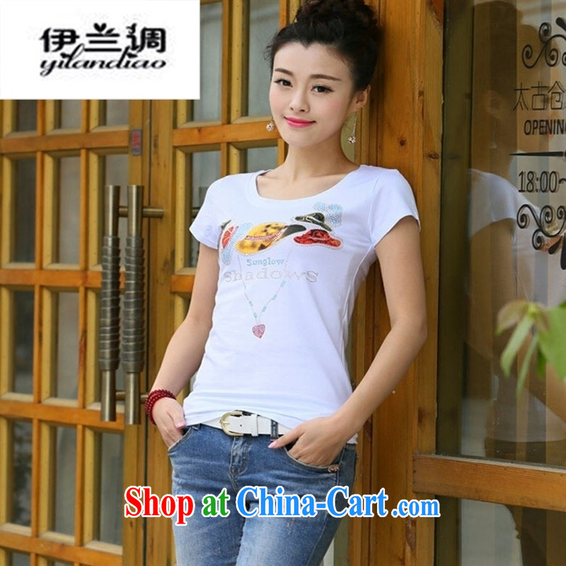 9 month female _ Real-time concept 2015 summer new Korean women who decorated graphics thin T pension maximum code short-sleeved solid shirt T pension gray XXL