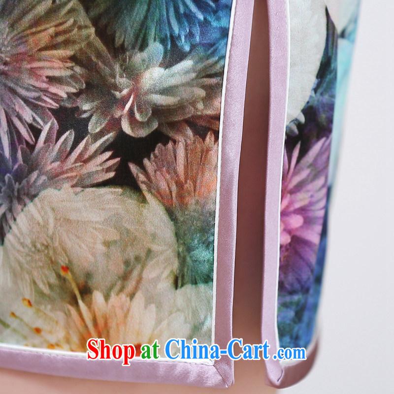 Mrs M, summer 2015 new stylish silk, stamp duty for cheongsam saffron XXL, Mrs M land (SHUMILIAN), and shopping on the Internet