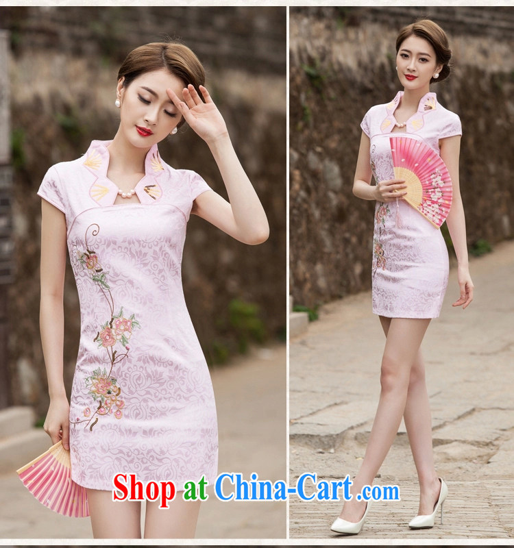 covered by snow in 2015 new summer fashion improved cheongsam dress daily video thin beauty short cheongsam dress, pink S pictures, price, brand platters! Elections are good character, the national distribution, so why buy now enjoy more preferential! Health