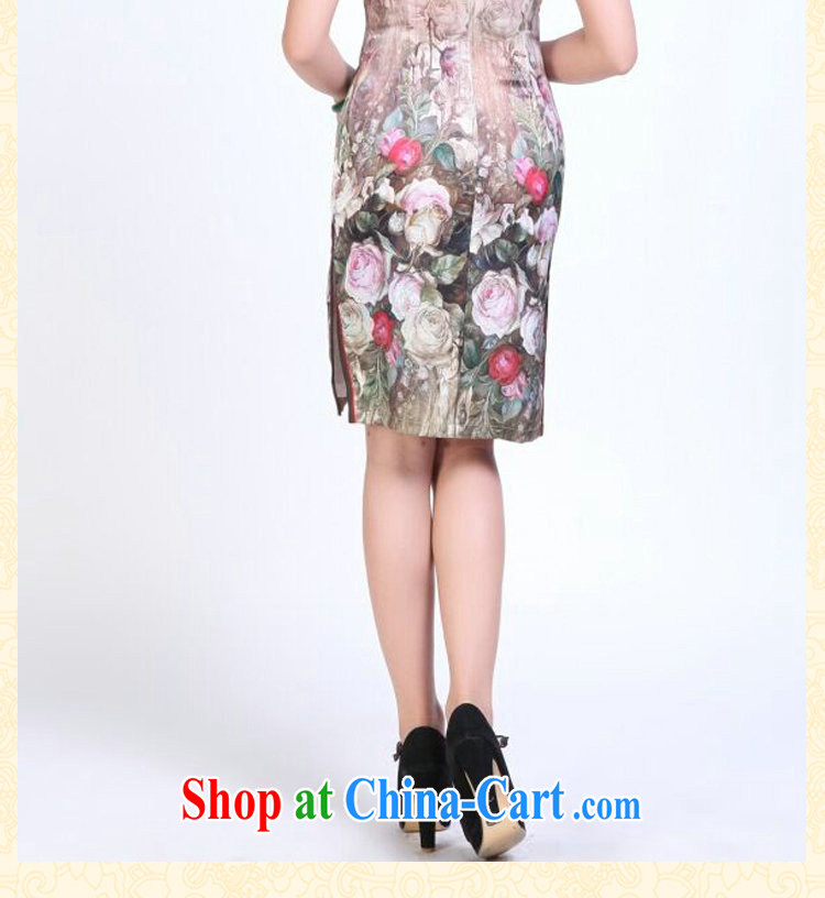 Dan smoke summer dresses, heavy silk digital painting dresses stylish and simple spring sauna Silk Cheongsam short figure 3XL pictures, price, brand platters! Elections are good character, the national distribution, so why buy now enjoy more preferential! Health