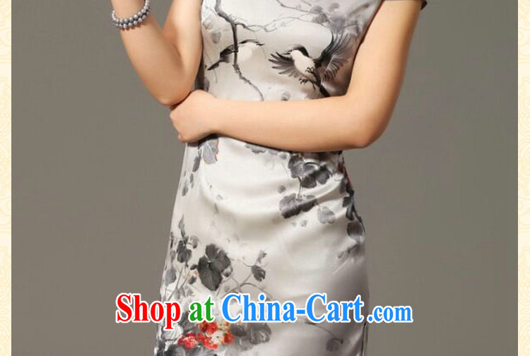 Bin Laden smoke summer new female dresses classic Silk Cheongsam retro classy Magpies bad news sauna Silk Cheongsam figure 3XL pictures, price, brand platters! Elections are good character, the national distribution, so why buy now enjoy more preferential! Health