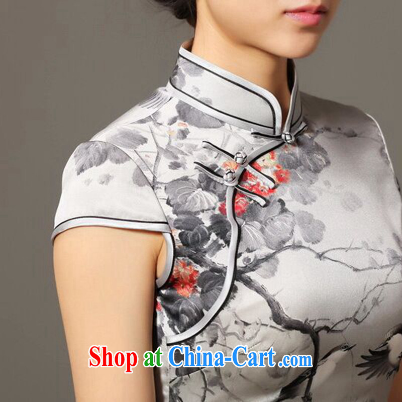 Find Sophie summer new women-dresses classic Silk Cheongsam retro elegant and noble Magpies bad news sauna Silk Cheongsam as figure 3XL, flexible employment, shopping on the Internet
