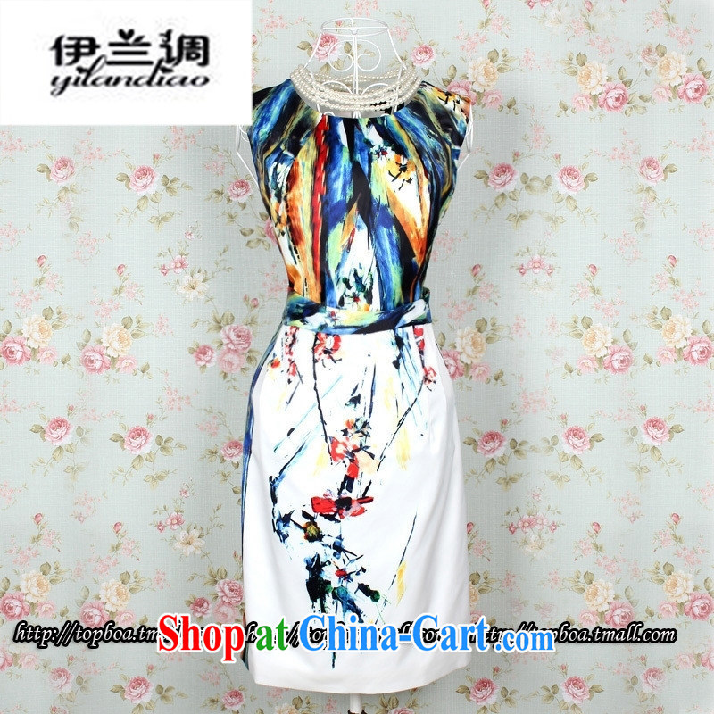 Boutique new female Ethnic Wind vest skirt Ruili dresses qipao improved stylish everyday dresses skirt white XXL