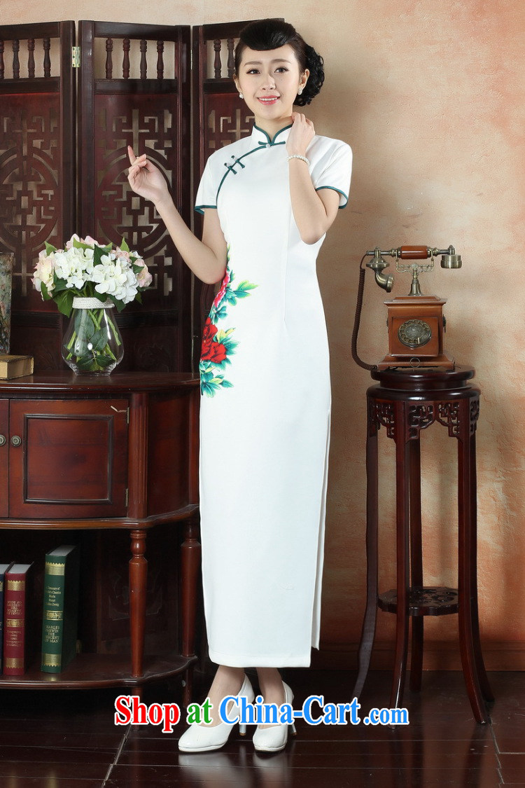 Dan smoke-free summer, National wind dress cheongsam dress stylish improved Chinese, for hand-painted antique long cheongsam dress as color 2XL pictures, price, brand platters! Elections are good character, the national distribution, so why buy now enjoy more preferential! Health