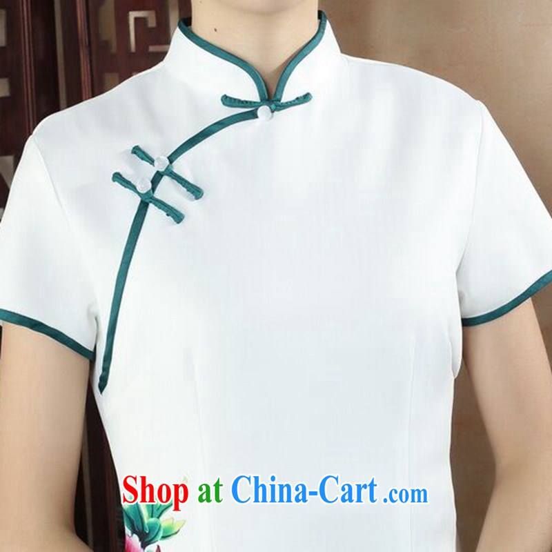 Dan smoke-free summer, National wind dress cheongsam dress stylish improved Chinese, for hand-painted antique long cheongsam dress such as the color 2 XL, Bin Laden smoke, shopping on the Internet