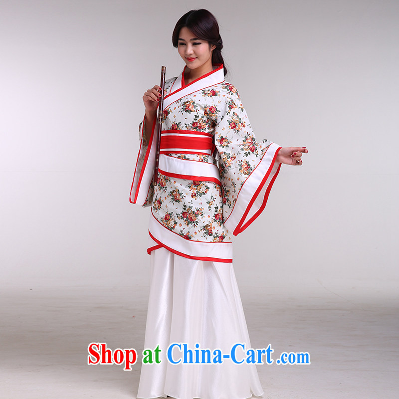 Costumed clothing, clothing women's clothing music were deeply Yi Han Dynasty portrait costumes Princess maid service performance women take the red double-track, served both code