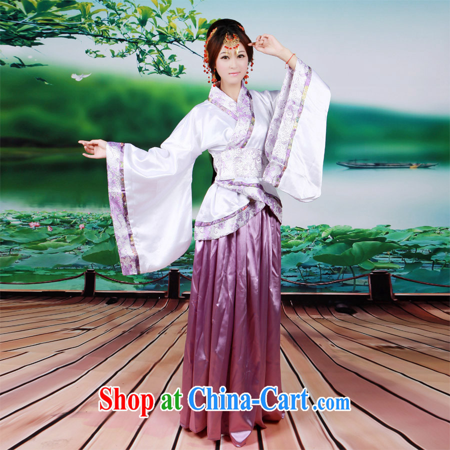 Han-costumed female ethnic Chinese princess female track civil show costumes stage drama red are code