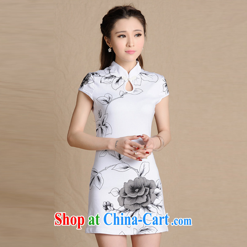 The Soviet Union's 2015 National wind painting beauty antique dresses cotton female figure color XXL