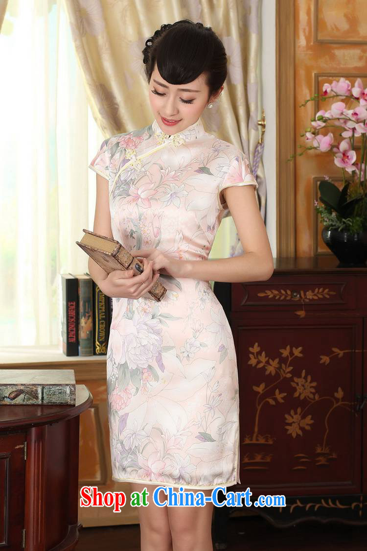 According to fuser new female retro improved Chinese Tang is a tight floral beauty short Chinese qipao dress LGD/Z #0014 figure 2 XL pictures, price, brand platters! Elections are good character, the national distribution, so why buy now enjoy more preferential! Health