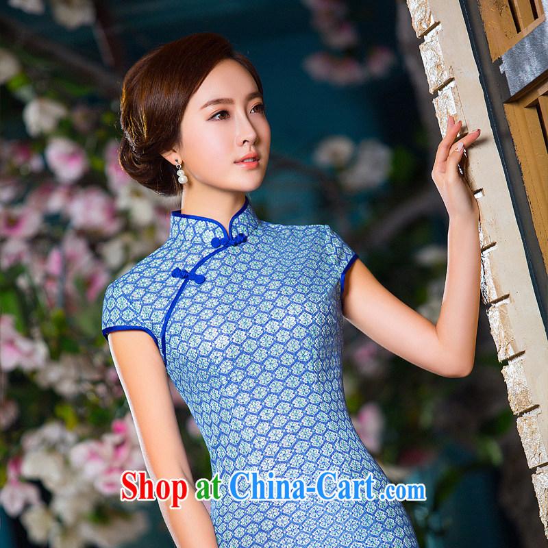The Yee-Windsor JA 2015 elite summer elegant lace knocked color dresses dresses daily beauty art graphics thin cheongsam dress 2XL