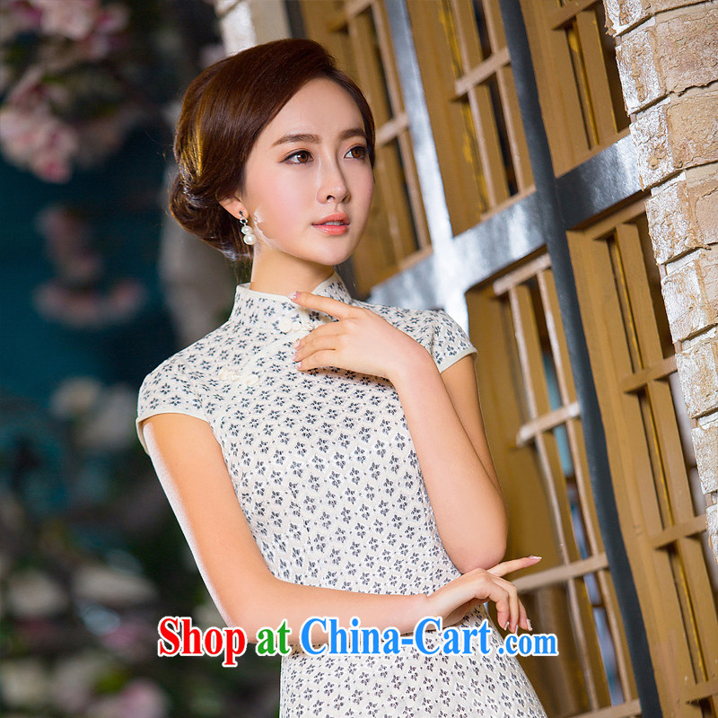 The cross-sectoral, Elizabeth, 2015 new daily improved cheongsam summer short cheongsam dress, for improved cultivation and stylish casual dresses dresses 2 XL