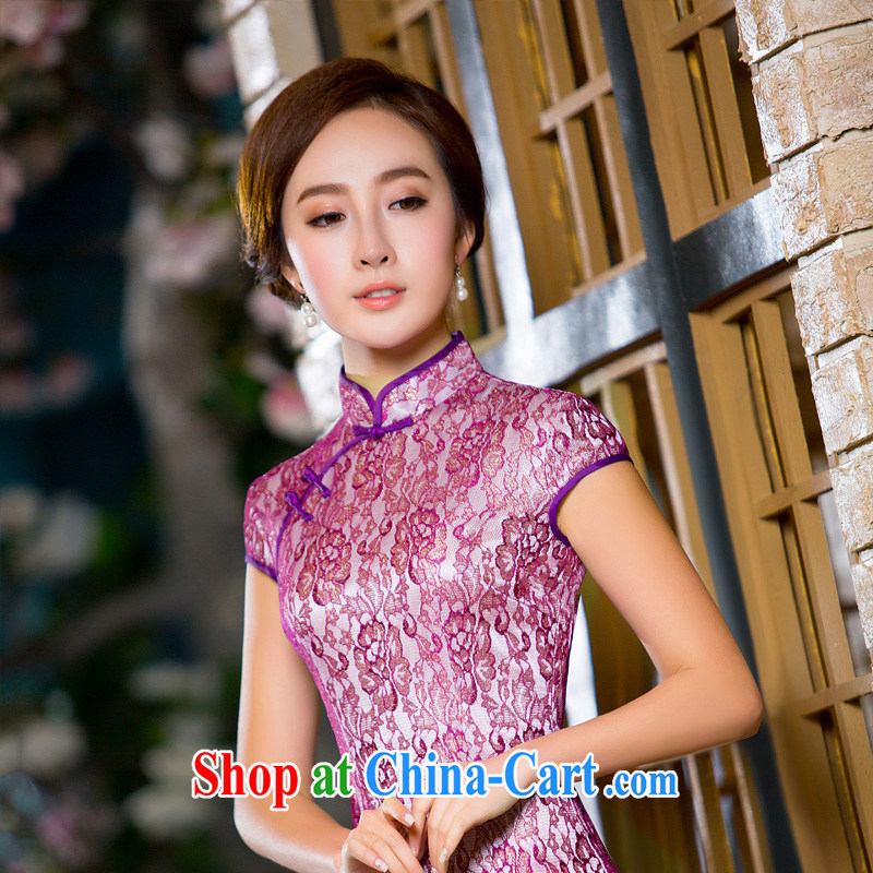 The Yee-sha Xin Yue, 2015 summer lace dresses sexy dresses retro improved daily cheongsam dress dress 2XL