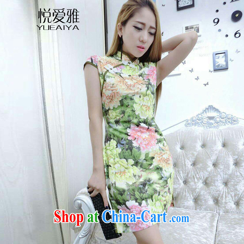 Yue loved Jacob _YUEAIYA_ 2015 new retro sexy night dress on the truck qipao,package and tight dresses DR 32,173 yellow L