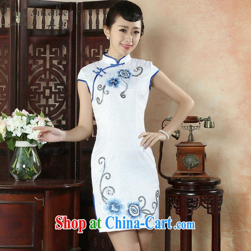 Bin Laden smoke-free summer, new outfit, Ms. Tang with Chinese improved embroidery, for Pearl, light style short dresses such as the color 2 XL