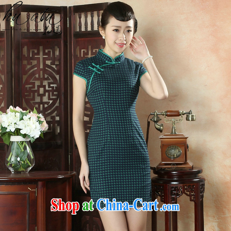 Take the female cheongsam Chinese summer, new Chinese improved, for a tight wind of fine, short-sleeved short dresses such as the color 2 XL