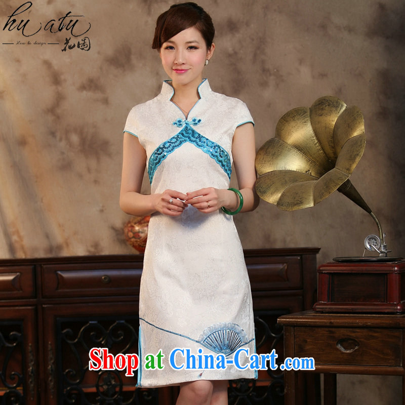 spend the summer new dress cheongsam Chinese improved Tang replace the collar embroidered with Pearl cultivation Haro cheongsam dress attire such as the color 2 XL