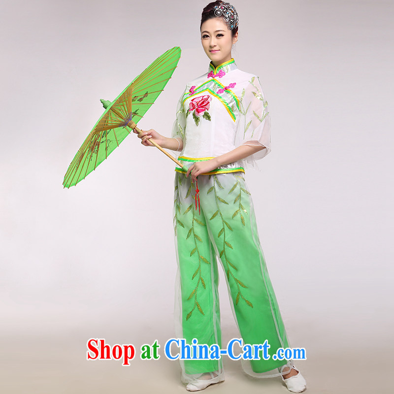 New yangko dance costumes female ethnic dance dress waist encouraging Fan Dance such as the color of the
