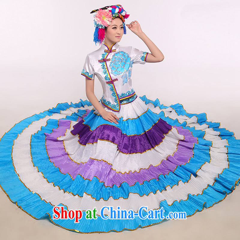 2015 new, Yi, Ms. big skirts featured national costume national dances such as the large number