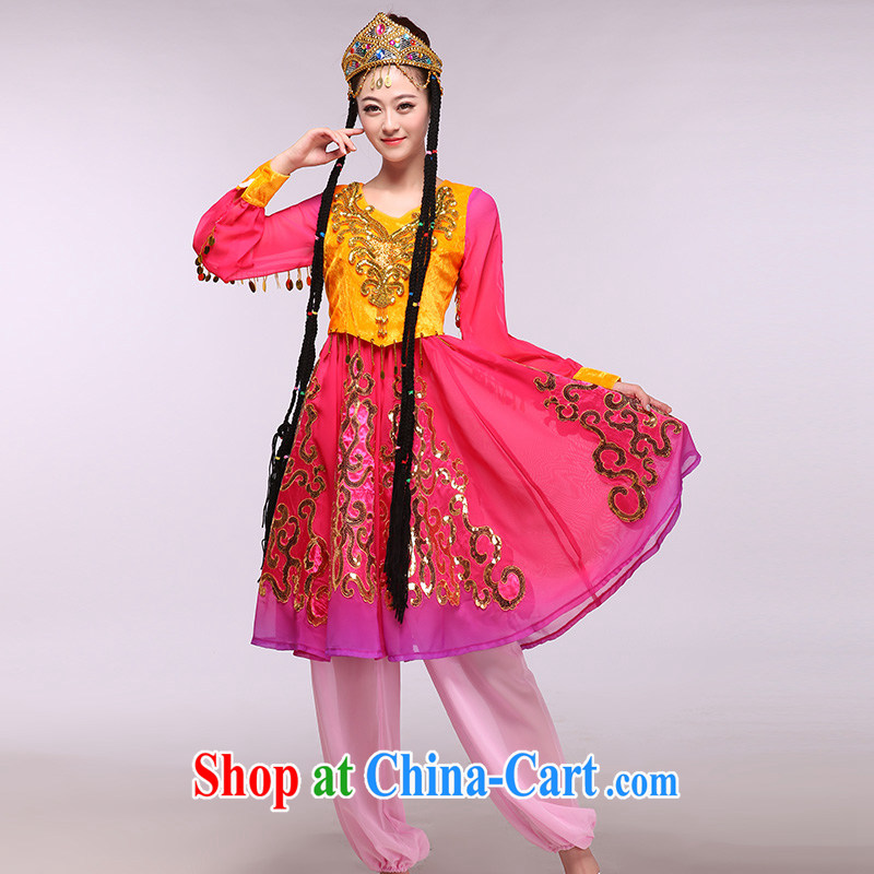 Elections of the Red Cross as soon as possible in Xinjiang 2015 new Xinjiang dance as well as ethnic costumes show package of red XXXL, music, and shopping on the Internet
