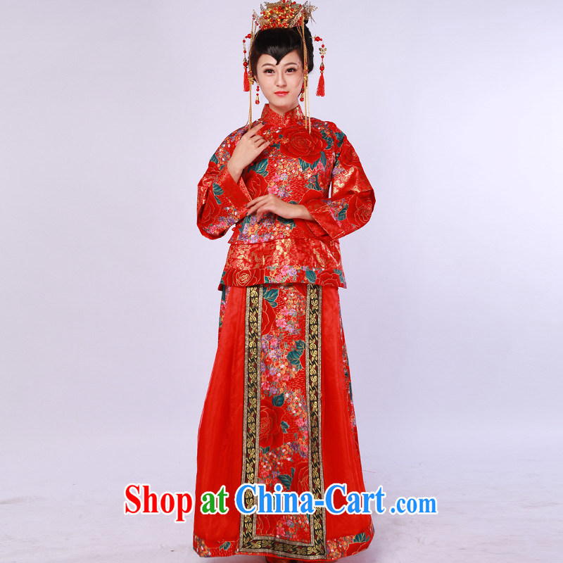 Show groups serving costumed wedding Service Bridal married Yi Chinese wedding dress Hu Ching marriage Service of Korea wind bows service mulberry cloth-su Wo L
