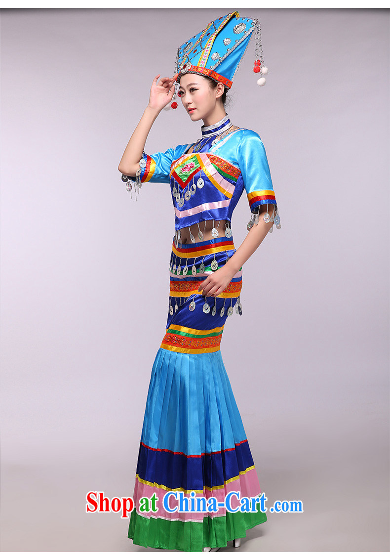 The blue Zhuang -- 2015 new Zhuang costumes classical national costumes dance clothing blue XXXL pictures, price, brand platters! Elections are good character, the national distribution, so why buy now enjoy more preferential! Health