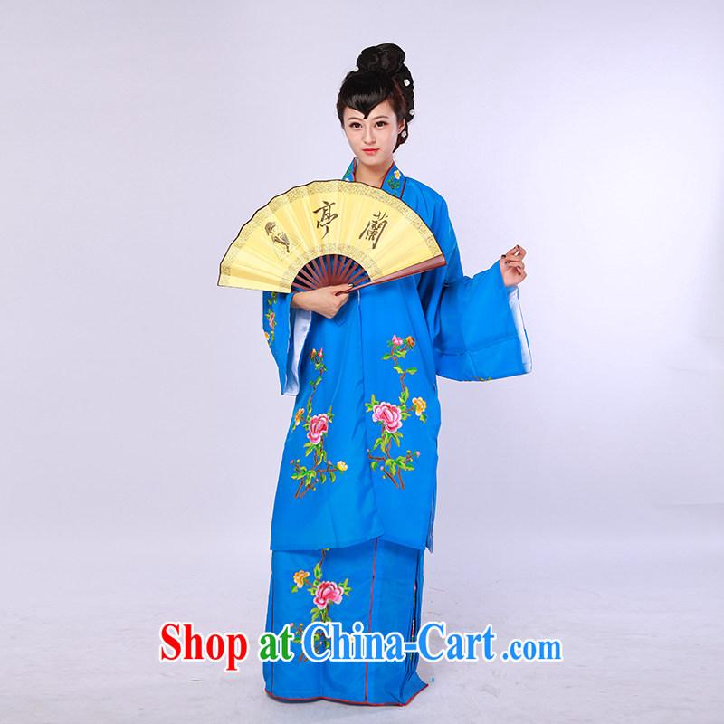Women in the Grand Prix Tsing Yi Peach Flower flower flowering as soon as soon as an old drama once clothing costumes annual blue T-shirt