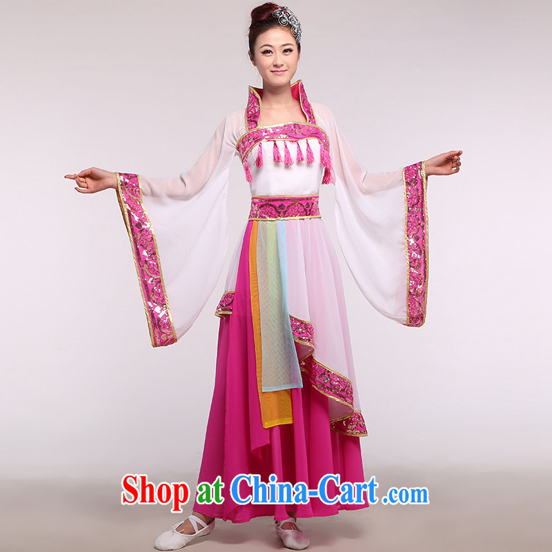 Service performed classical dance clothing ethnic clothing portraying Yang Kuei-fei on stage dance serving the Tang Dynasty dance clothing such as the color of the music, and, shopping on the Internet