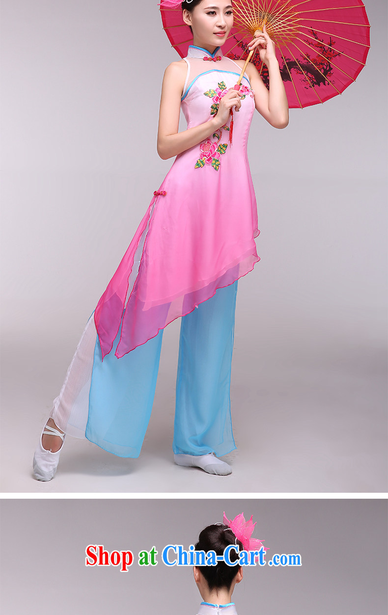 national costumes stage costumes female classical dance fans dance clothing bamboo following dance clothing pink L pictures, price, brand platters! Elections are good character, the national distribution, so why buy now enjoy more preferential! Health