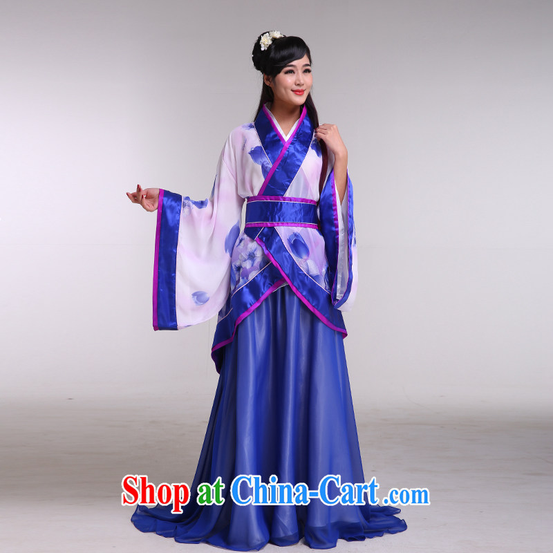 Costumed clothing fairy tail Princess queen sleeper sofa photo building Photo Show clothing, clothing women's clothing music performances were blue all code
