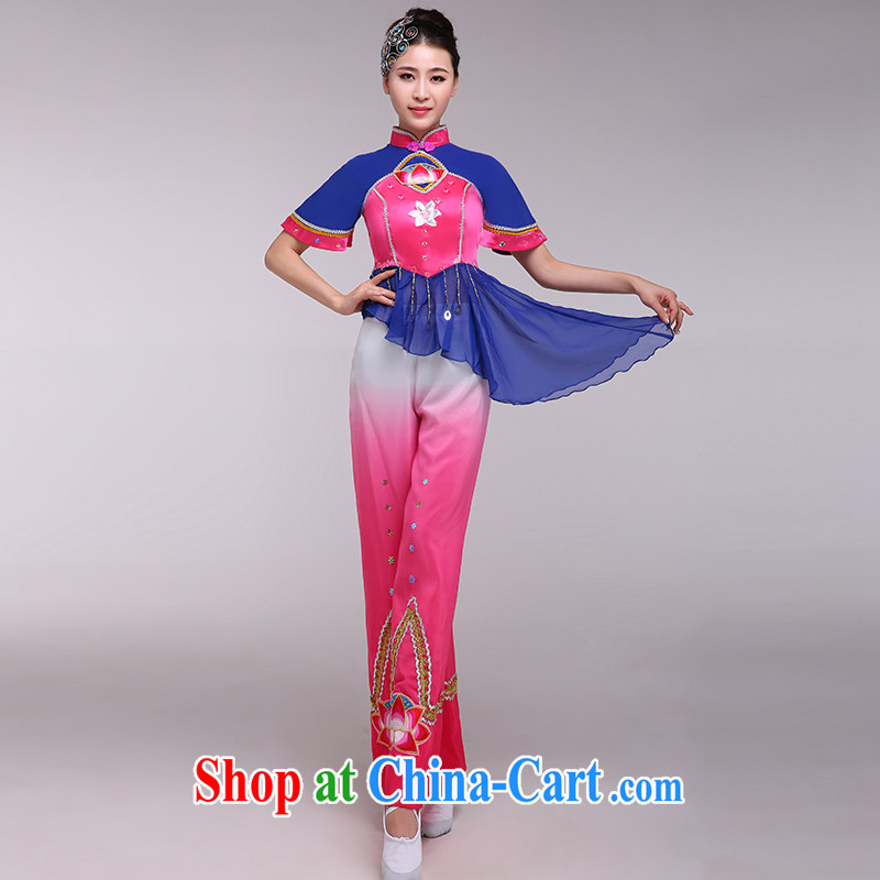 national costumes stage costumes female classical dance fans dance clothing Lotus Zambia dance clothing