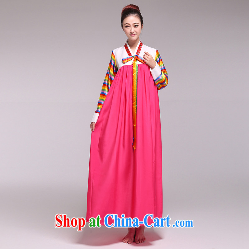 Hanbok Daejanggeum dance costumes-Korean female national service performance of serving red L