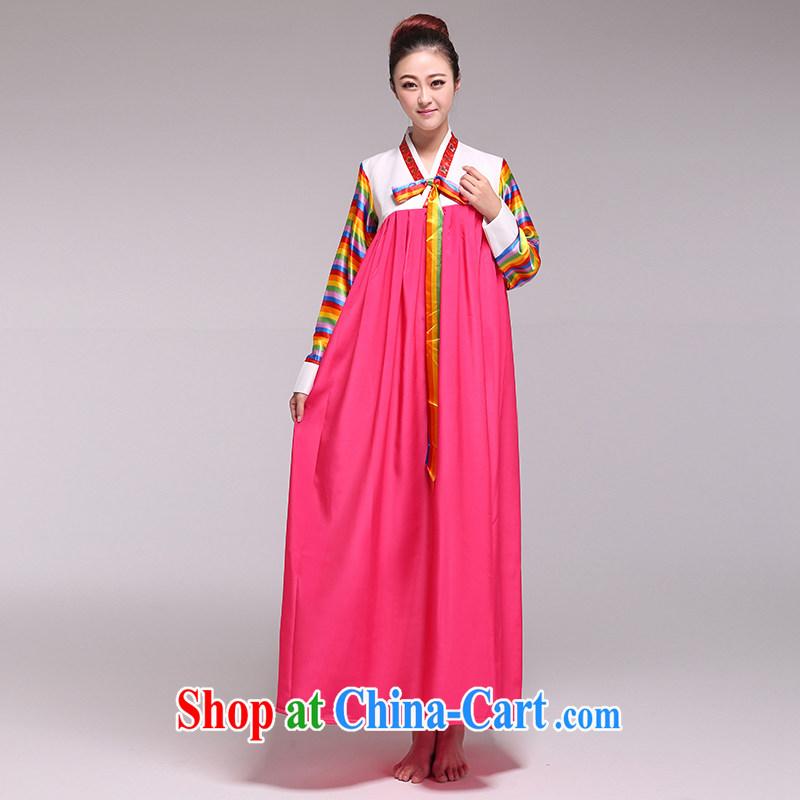 Hanbok Daejanggeum dance costumes-Korean female national service performance of serving red L