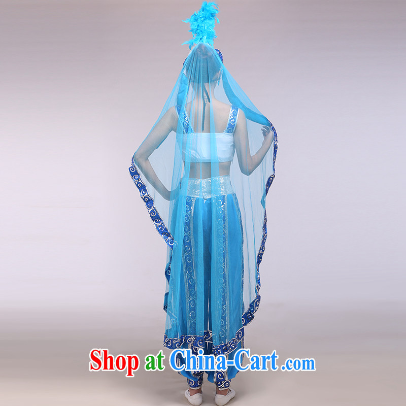 Xinjiang dance performances serving female Xinjiang Dance minority and modern dance Xinjiang love blue L pictures, price, brand platters! Elections are good character, the national distribution, so why buy now enjoy more preferential! Health