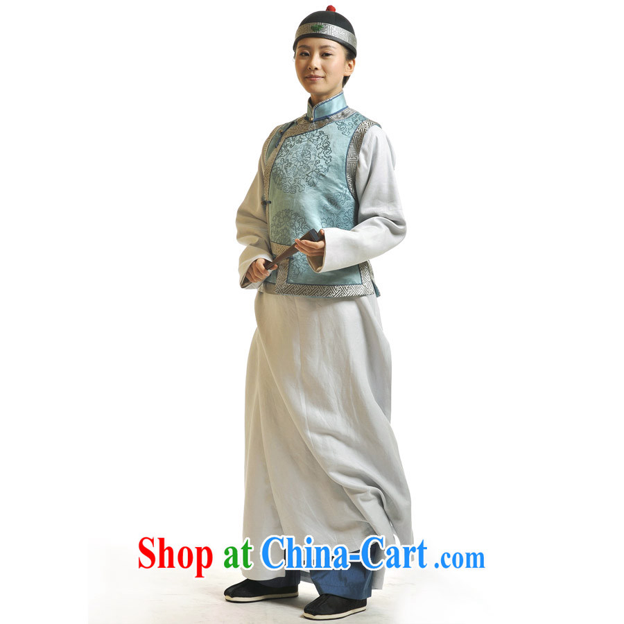 Step shocked if Sunrise House dressed up as a man and fist Lisa videos costumes Qing Dynasty costume jewelry green clothing