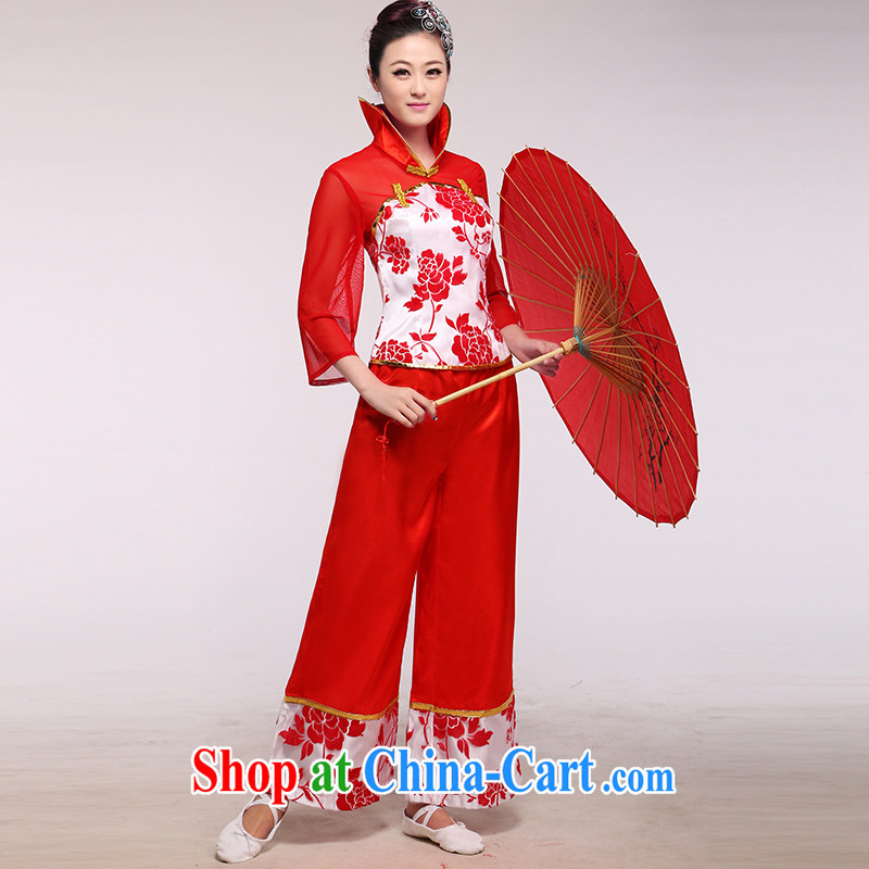 New Vertical collar costume modern yangko clothing opening Dance Dance Square dance women's clothing such as the color of the