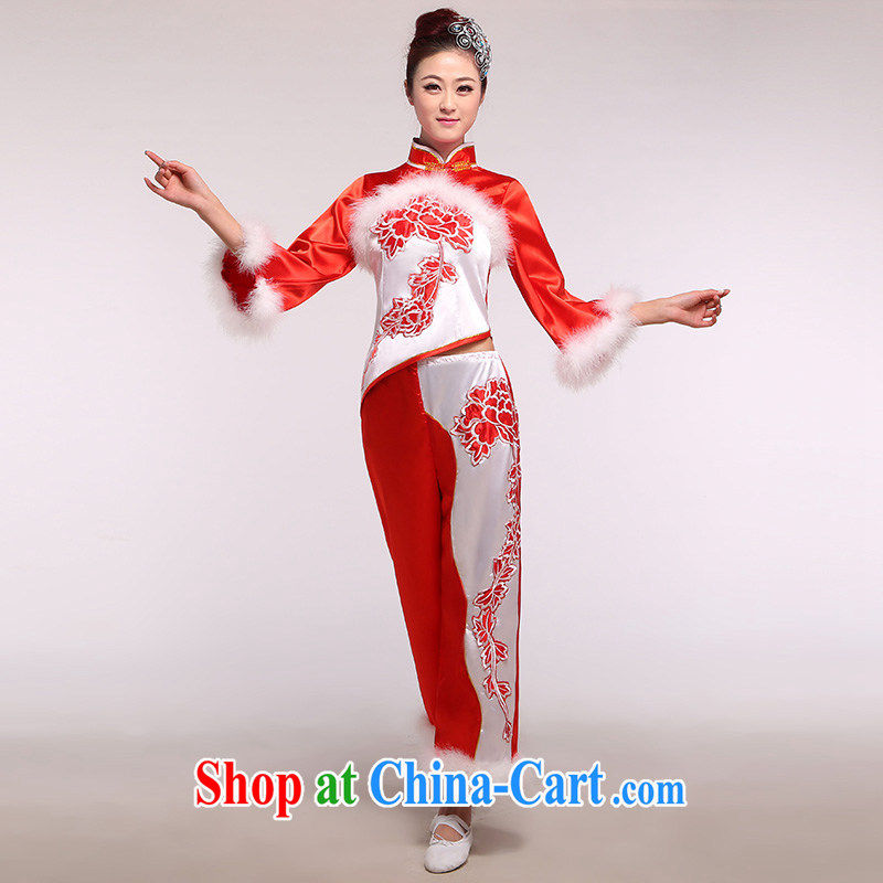 Good day Ms. clothing winter clothing dance Yangge serving 2 people to show ethnic performances serving large red code