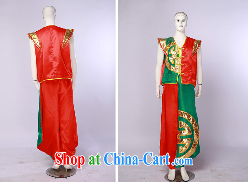 New Men's China wind modern dance uniforms, encouraging seedlings song and dance performances serving stage performances red and green L pictures, price, brand platters! Elections are good character, the national distribution, so why buy now enjoy more preferential! Health