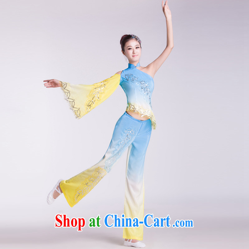 Fan Dance costumes female classical dance clothing Dance Square dance spares new national service as L