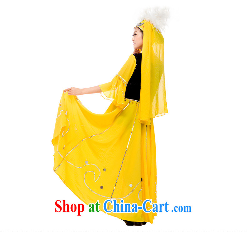Xinjiang clothing costumes dance costumes female opening dance swing skirt costumes yellow L pictures, price, brand platters! Elections are good character, the national distribution, so why buy now enjoy more preferential! Health