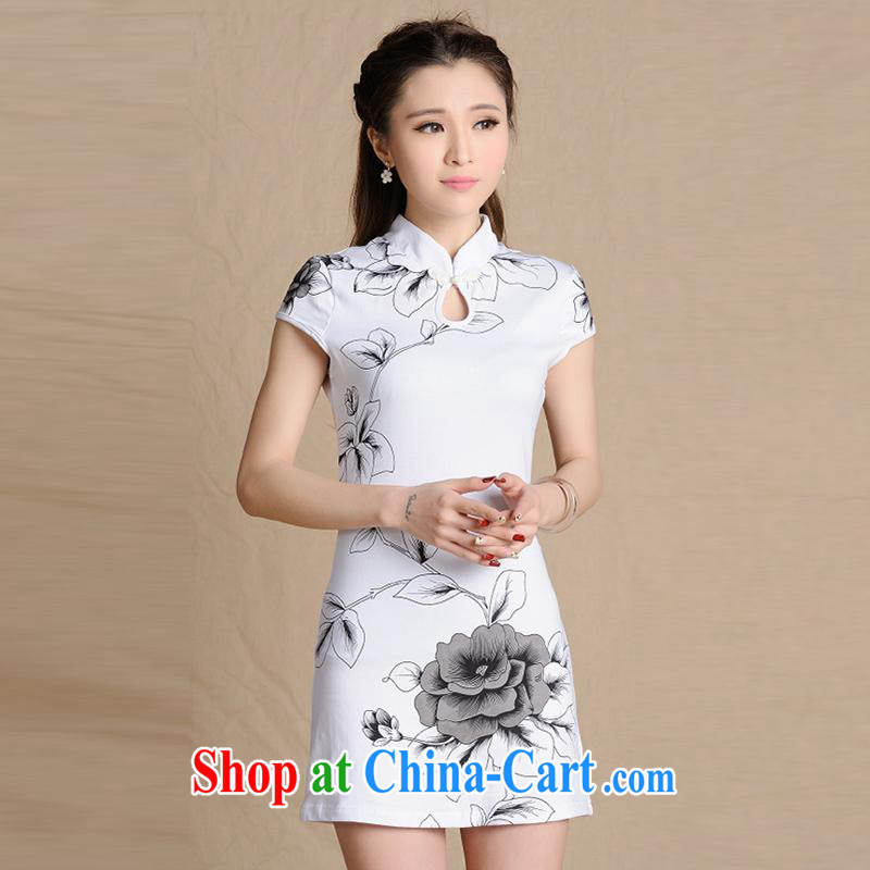 Sweet 1000 according to 2015 National wind painting beauty antique dresses cotton female figure color XXL
